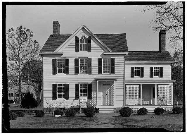 1.  Historic American Buildings Survey John Spinola, Photographer November 9, 1936 EXTERIOR - SOUTHEAST ELEVATION - Grover Cleveland Birthplace, 207 Bloomfield Avenue, Caldwell, Essex County, NJ