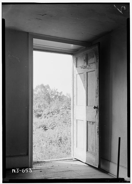 4.  Historic American Buildings Survey R. Merritt Lacey, Photographer September 16, 1940 INTERIOR - DOORWAY DETAIL - Henry Francisco House, Allen Road, North Caldwell, Essex County, NJ