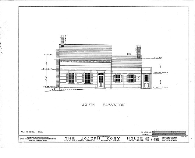 HABS NJ,7-CALDW,1- (sheet 4 of 10) - Lane-Cory House, 633 Bloomfield Avenue, West Caldwell, Essex County, NJ