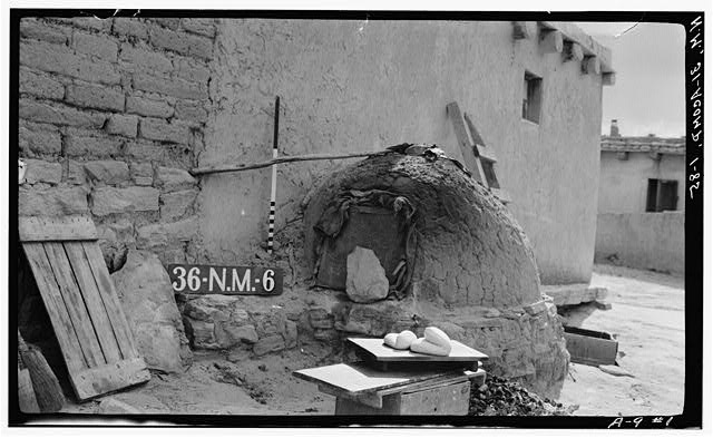85.  Historic American Buildings Survey M. James Slack, Photographer, April 12, 1934 DETAIL TYPICAL BAKE OVEN - Pueblo of Acoma, Casa Blanca vicinity, Acoma Pueblo, Cibola County, NM