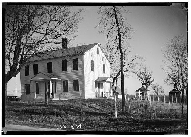 1.  Historic American Buildings Survey, Nelson E. Baldwin, Photographer April 30, 1937, VIEW-FRONT ELEVATION AND SIDE, RICE HOMESTEAD, RICEVILLE, N.Y. - Rice Homestead, Route 30, Mayfield, Fulton County, NY