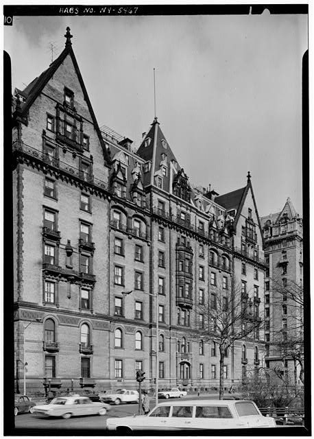 2.  Historic American Buildings Survey, 1965, EAST ELEVATION. - The Dakota (Apartments), 1 West Seventy-second Street, Central Park West, New York County, NY