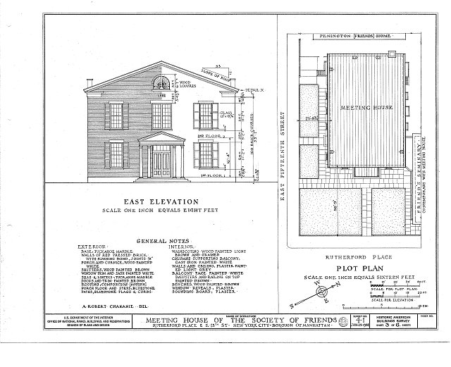 HABS NY,31-NEYO,8- (sheet 3 of 6) - Society of Friends Meetinghouse, 15 Rutherford Place, New York County, NY