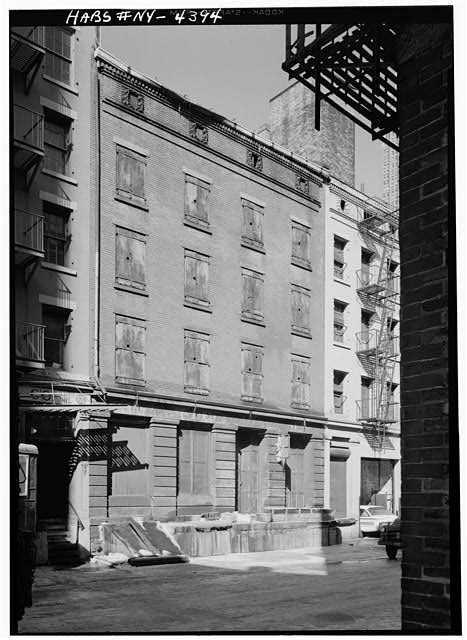 1.  Historic American Buildings Survey, Cervin Robinson, Photographer February 1960, SOUTHEAST (FRONT) ELEVATION. - Phoenix-Shaw Warehouse, 68-70 Front Street, New York County, NY