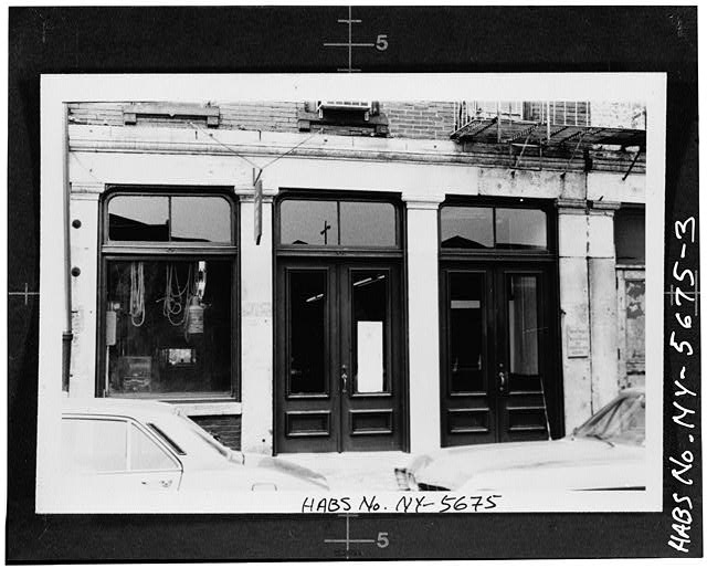 3.  STOREFRONT OF 203 FRONT STREET (from HABS field photo) - South Street Seaport Museum, 203-204 Front Street, New York County, NY