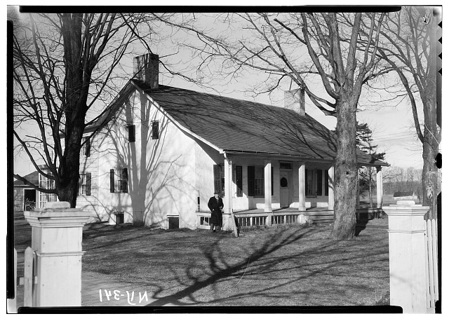 2.  Historic American Buildings Survey, Nelson E. Baldwin, Photographer May 25, 1936, DETAIL OF SOUTH EAST ELEVATION. - Martin Homestead, U.S. Route 9, Red Hook, Dutchess County, NY
