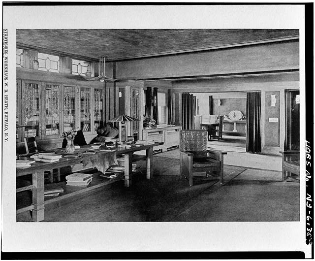 3.  PLATE #81, 'WOHNZIMMER' LIVING ROOM - W. R. Heath House, 76 Soldiers Place, Buffalo, Erie County, NY