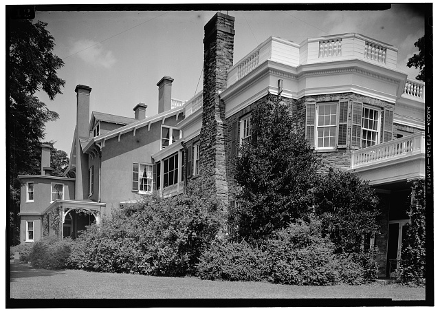10.  Exterior, Southwest Shot, July 1941. - Springwood, Hyde Park, Dutchess County, NY