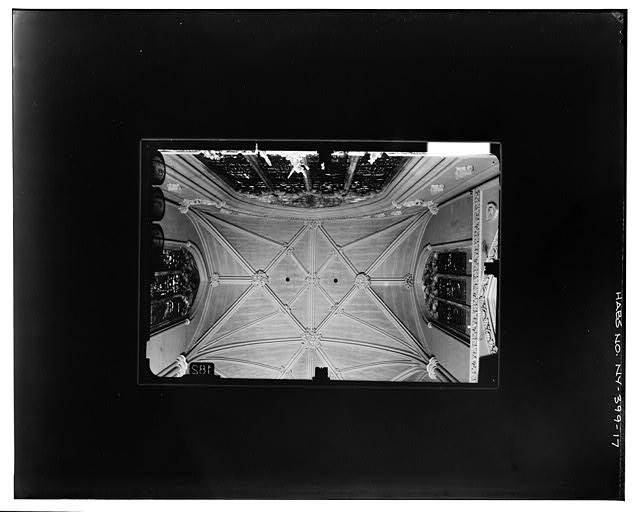 17.  CEILING AND UPPER PART OF SOUTH TRANSEPT WALL Copy photograph of photogrammetric plate LC-HABS-GSO7-T-1343-106R. - Grace Church, Broadway, Tenth Street & Fourth Avenue, New York County, NY