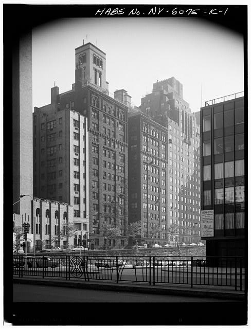 1.  PERSPECTIVE VIEW OF MAIN ELEVATION - Tudor City Complex, Stewart Hall, 310 Mitchell Place, New York County, NY