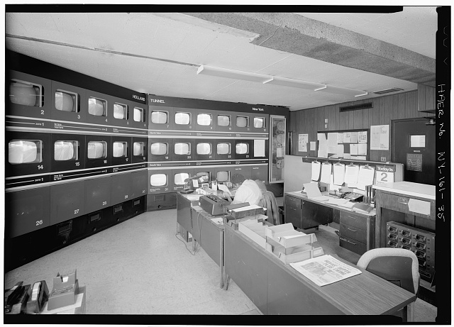 35.  HEADQUARTERS AND MAINTENANCE BUILDING, TRAFFIC MONITORING ROOM - Holland Tunnel, Beneath Hudson River between New York & Jersey City, New York County, NY