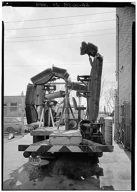 42.  HEADQUARTERS AND MAINTENANCE BUILDING, TILE CLEANING TRUCK - Holland Tunnel, Beneath Hudson River between New York & Jersey City, New York County, NY