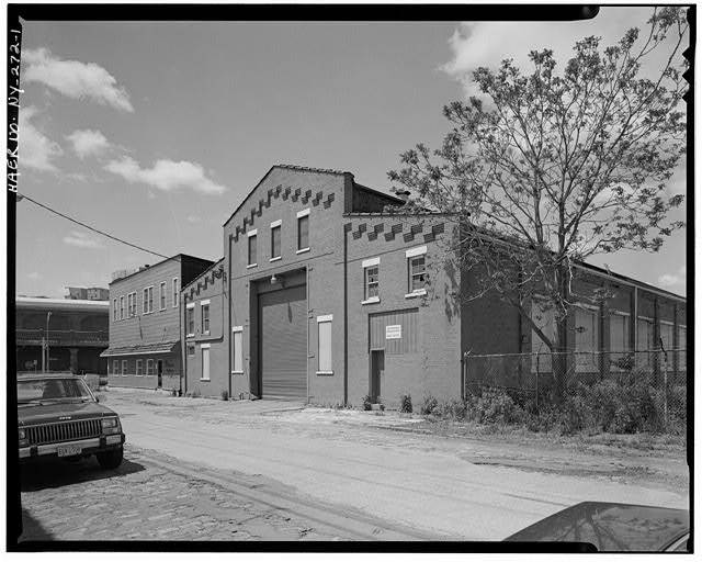 1.  East elevation, view southwest - Oldman Boiler Works, 32 Illinois Street, Buffalo, Erie County, NY