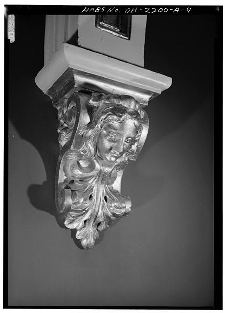 4.  BRACKET SUPPORTING ARCHWAY IN HALL - 808 Dayton Street (House), Cincinnati, Hamilton County, OH