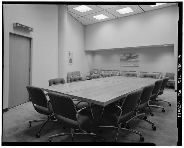9.  Interior,conference room - Springfield City Hall (1979), 76 East High Street, Springfield, Clark County, OH