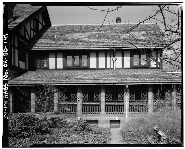 141.  LONG PORCH, SOUTHEAST END - Stan Hywet Hall, 714 North Portage Path, Akron, Summit County, OH