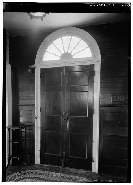 3.  Historic American Buildings Survey, Carl F. Waite, Photographer April, 1934 DETAIL INTERIOR MAIN ENTRANCE ON NORTH ELEVATION. - Edgerton House, Buckland Avenue, Fremont, Sandusky County, OH
