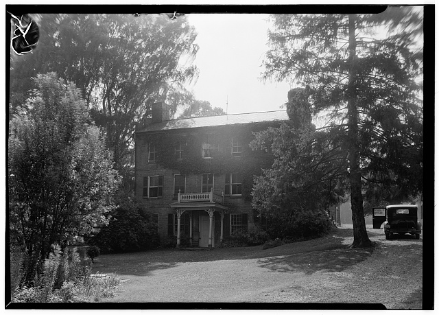 1.  Historic American Buildings Survey, Carl Waite, Photographer August 19, 1936 EAST ELEVATION. - Jonathan Hale House, Oak Hill Road, Ira, Summit County, OH