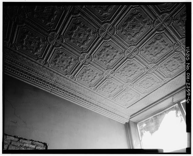 6.  INTERIOR, CEILING DETAIL - Swiss Hall, 410-412 Monroe Street, Toledo, Lucas County, OH
