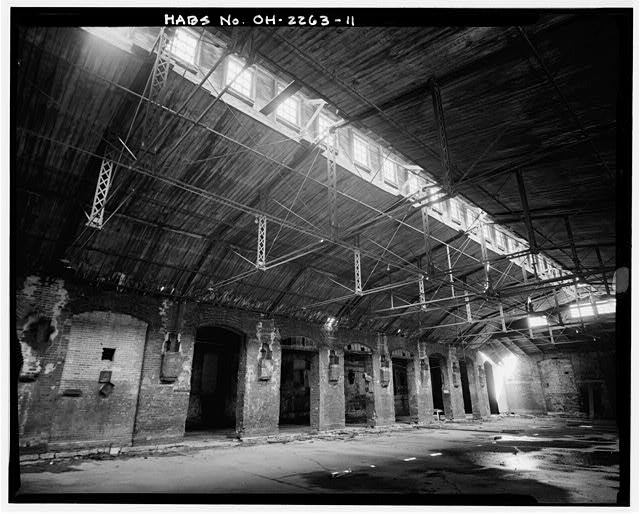 11.  BASEMENT, LIGHT WELL AND TRUSS SYSTEM - American Oak Leather Company, 1220-1236 Kenner Street, Cincinnati, Hamilton County, OH