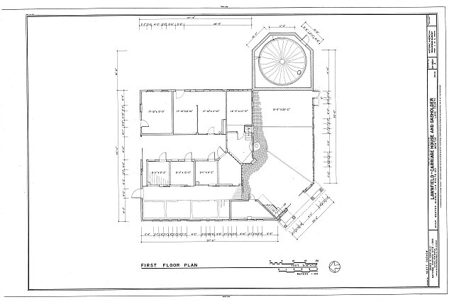 HABS OHIO,43-MENT,2A- (sheet 1 of 5) - Lawnfield, Carriage House & Gasholder, 8095 Mentor Avenue (U.S. Route 20), Mentor, Lake County, OH