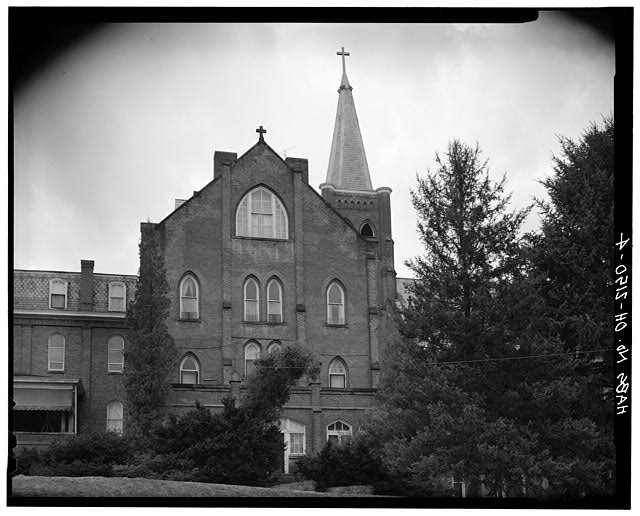 4.  CONVENT, NORTH ELEVATION - St. Aloysius Academy, Tile Plant Road at Thorn Road, New Lexington, Perry County, OH