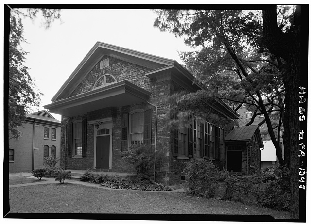 2.  Historic American Buildings Survey, Cervin Robinson, Photographer September, 1958 NORTH AND EAST ELEVATIONS. - Reading Friends Meeting, North Sixth Street, Reading, Berks County, PA