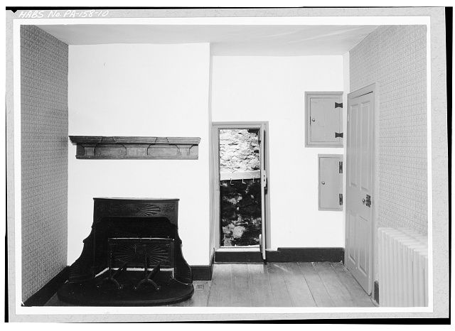 10.  SECOND FLOOR, CENTER SECTION, NORTHWEST ROOM, WEST WALL SHOWING SMOKE CHAMBER - Pusey House, Woodview Road (London Grove Township), Chatham, Chester County, PA