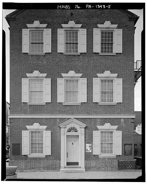 5.  Dan Eisenhart, photographer, summer 1981, east facade, three stories - Old City Hall, Penn Square, Lancaster, Lancaster County, PA