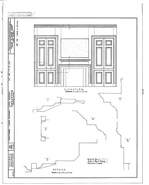 HABS PA,36-LANC.V,1- (sheet 8 of 13) - Rockford, Rock Ford Road (West Lampeter Township), Lancaster, Lancaster County, PA