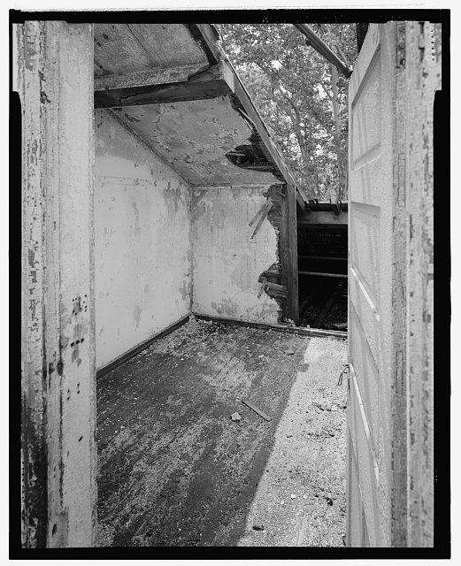 View looking east into resident room on east side of south wing after the dormer window was removed. - U. S. Naval Asylum, Biddle Hall, Gray's Ferry Avenue, Philadelphia, Philadelphia County, PA