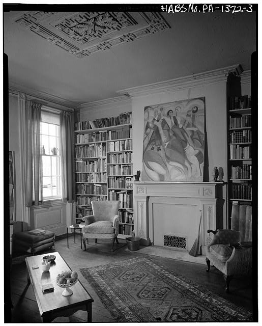 3.  INTERIOR, FRONT ROOM, FIRST FLOOR - Thomas Sully House, 530 Spruce Street, Philadelphia, Philadelphia County, PA