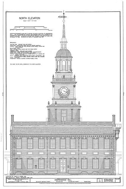 HABS PA,51-PHILA,6- (sheet 16 of 45) - Independence Hall Complex, Independence Hall, 500 Chestnut Street, Philadelphia, Philadelphia County, PA