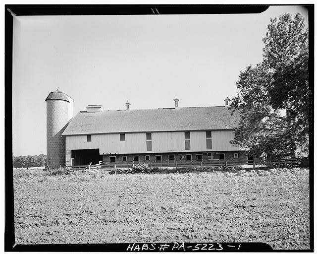 1.  GENERAL VIEW. - Christian & Fanny Landis Barn (1842), U.S. Route 222, Lancaster, Lancaster County, PA