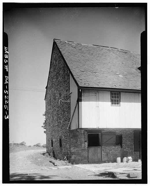 3.  DETAIL OF FOREBAY CONSTRUCTION AND STABLE DOOR - Jacob E. Long Barn, County Road, Lancaster, Lancaster County, PA