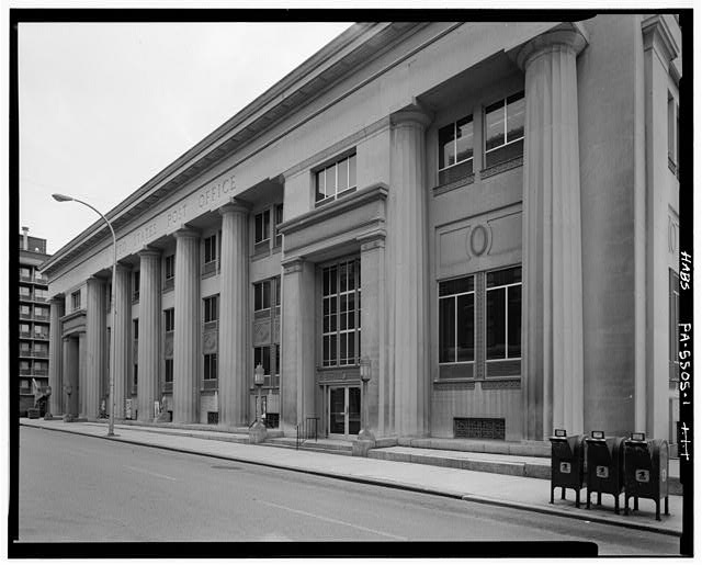 1.  PERSPECTIVE OF NORTHWEST FRONT LOOKING NORTH - U.S. Post Office, 1201 Eleventh Avenue, Altoona, Blair County, PA