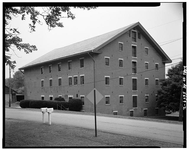 2.  WEST FRONT AND SOUTH SIDE - A. & H.S. Overholt Company Distillery, Frick Avenue, West Overton, Westmoreland County, PA