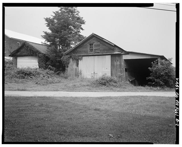 2.  SOUTH SIDE - Abraham Overholt Farm, Stables, Frick Avenue, West Overton, Westmoreland County, PA