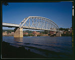 Old Brownsville Bridge, Spanning Monongahela River & Water Street at State Route 2067, Brownsville, Fayette County, PA