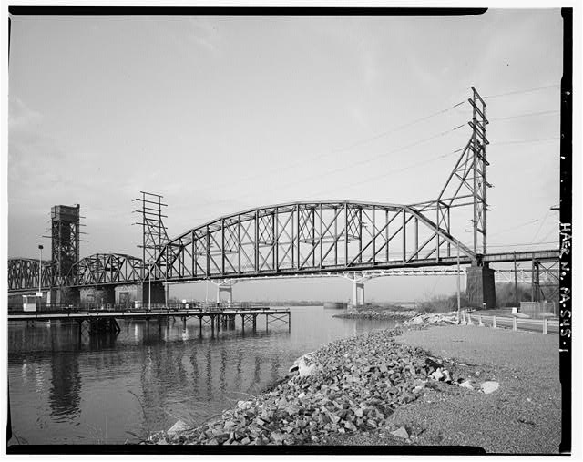 Eastern truss, looking north. - Pennsylvania & New Jersey Railroad, Delaware River Bridge, Spanning Delaware River, south of Betsy Ross Bridge (State Route 90), Philadelphia, Philadelphia County, PA