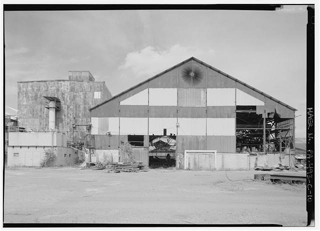 Western façade of mill building, looking east. - Phoenix Iron Company, Rolling Mill, North of French Creek, west of Fairview Avenue, Phoenixville, Chester County, PA