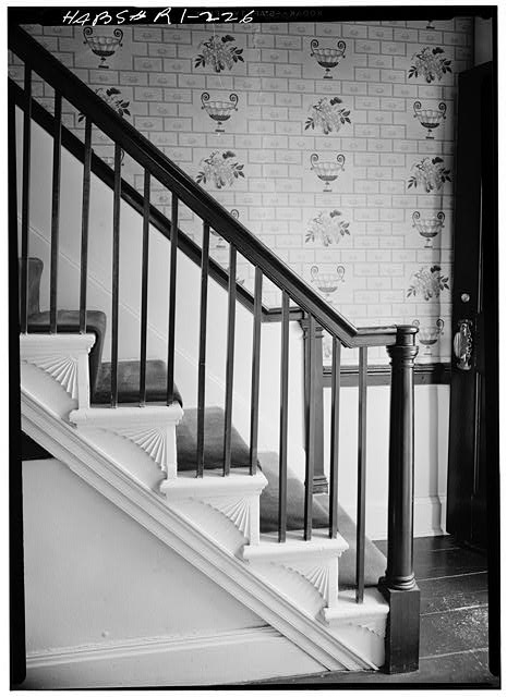 5.  Historic American Buildings Survey, Laurence E. Tilley, Photographer May, 1958 STAIRWAY. - James Burrough House, 160 Power Street, Providence, Providence County, RI