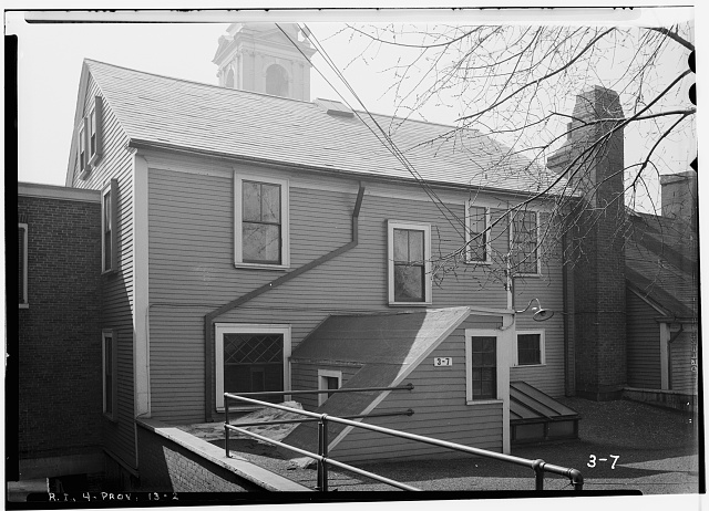 2.  Historic American Buildings Survey, G.H. Paine, Photographer March 21, 1934 NORTH ELEVATION (REAR). - Seril Dodge House, 10 Thomas Street, Providence, Providence County, RI