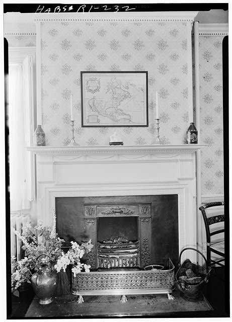 4.  Historic American Buildings Survey, Laurence E. Tilley, Photographer May, 1958 DINING ROOM FIREPLACE. - Cyrus Ellis House, 31 John Street, Providence, Providence County, RI