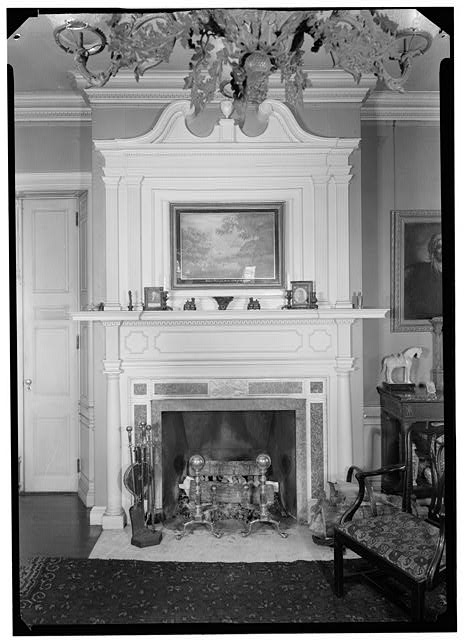 2.  Historic American Buildings Survey, Arthur W. LeBoeuf, Photographer, 1937 DETAIL OF MANTEL IN PARLOR. - Lippitt-Green House, 14 John Street, Providence, Providence County, RI