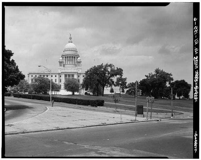 6.  SOUTH ELEVATION AND GROUNDS FROM SOUTH - Rhode Island State House, 90 Smith Street, Providence, Providence County, RI