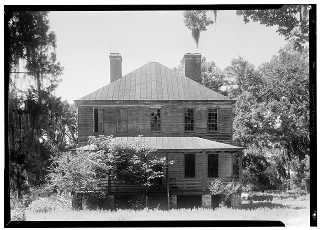 1.  Historic American Buildings Survey Photographer Thomas T. Waterman June 1939 GENERAL VIEW - Cedar Spring Plantation House, Pinopolis, Berkeley County, SC