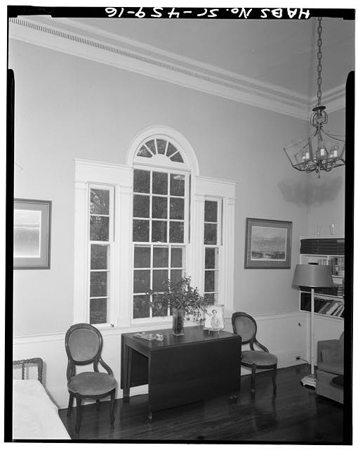 16.  STAIRHALL LANDING: NORTH ROOM, NORTH WALL - Robert Means House, 1207 Bay Street, Beaufort, Beaufort County, SC