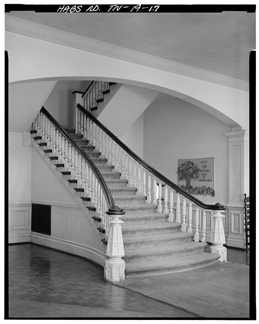 17.  FIRST FLOOR, ENTRANCE LOBBY STAIRWAY - Fisk University, Jubilee Hall, Seventeenth Avenue, North, Nashville, Davidson County, TN