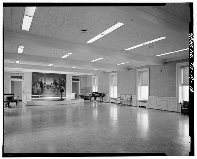 18.  FIRST FLOOR, APPLETON ROOM (BALL ROOM AND ACTIVITY ROOM) - Fisk University, Jubilee Hall, Seventeenth Avenue, North, Nashville, Davidson County, TN
